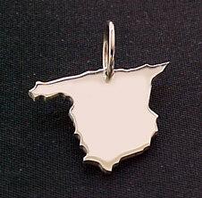 SPANIEN Kettenanhänger in 925 Silber - S.W.w. Schmuckwaren