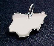 NIGERIA Kettenanhänger in 925 Silber - S.W.w. Schmuckwaren