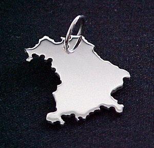 BAYERN Kettenanhänger in 925 Silber - S.W.w. Schmuckwaren