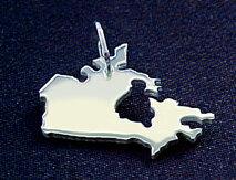 KANADA Kettenanhänger in 925 Silber - S.W.w. Schmuckwaren