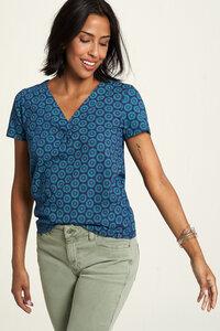 Jersey Shirt aus Bio-Baumwolle mit Print in verschiedenen Farben - TRANQUILLO