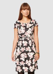 Bella Rose Print Dress Pink - People Tree