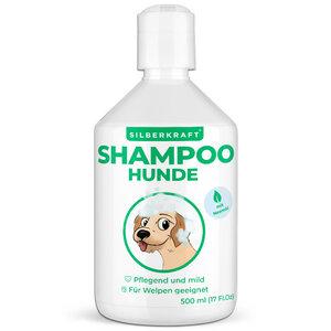 Hundeshampoo für Welpen und sensitive Hunde - gegen Juckreiz und Geruch - Silberkraft