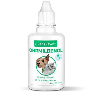 Ohrmilbenöl 50 ml für Hunde, Katzen und andere Haustiere - Silberkraft