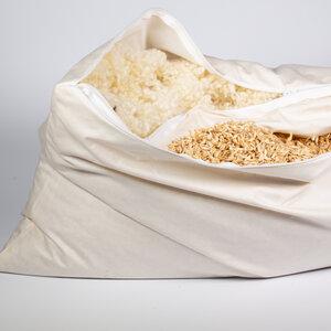 Kopfkissen 2-Kammer-Kissen mit Dinkelspelz und Wollkügelchen, Kombikissen, Nackenkissen - nahtur-design