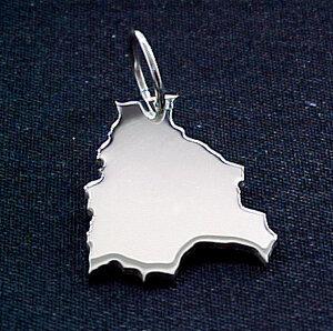 BOLIVIEN Kettenanhänger in 925 Silber - S.W.w. Schmuckwaren
