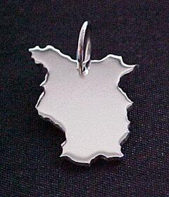 BRANDENBURG Kettenanhänger in 925 Silber - S.W.w. Schmuckwaren