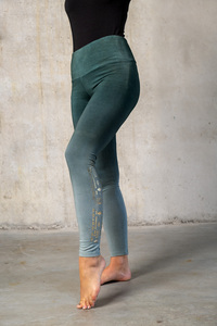 Yoga Leggings green Smaragd - Spirit of OM