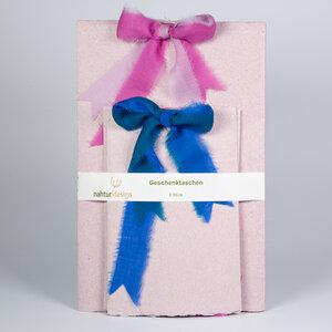 Geschenktüten-Set aus Leinen-Büttenpapier - nahtur-design