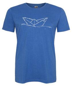 Papierschiff Paperboat Men T-Shirt aus Biobaumwolle ILI02 blau - ilovemixtapes