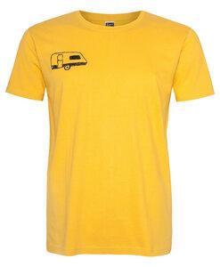 Wohnwagen Men T-Shirt aus Biobaumwolle ILI02 gelb - ilovemixtapes