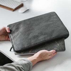 MacBook Tasche EcoSleeve aus Kraftpapier und veganem Filz - Woodcessories
