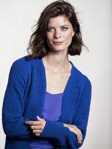 Circular Fashion Landscape Cardigan Cobalt - traditionelles Zopfmuster - Loop.a life