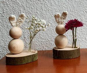 Murmel-Häschen auf Baumscheibe - b.y.r.d.