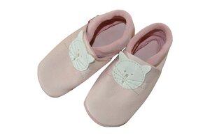Baby Krabbelschuhe Kitty rosa ökologisch - Pololo
