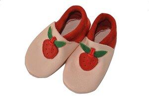 Baby Krabbelschuhe Berry rosa/pink ökologisch - Pololo
