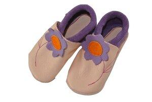 Baby Krabbelschuhe Jasmin rosa/lila ökologisch - Pololo