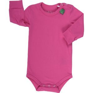 Alfa Langarmbody pink - Green Cotton