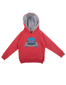 Hedgerow Hoody Fire Engine - Frugi
