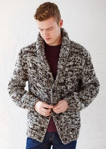 ISAAC ROLL COLLAR CARDIGAN - People Tree