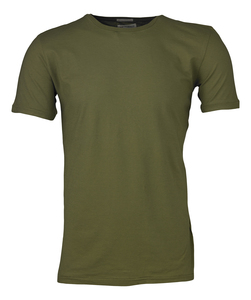 KnowledgeCotton Bio Basic T-shirt O-Neck in olive - KnowledgeCotton Apparel