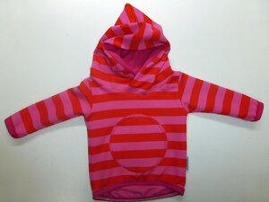 Kinder-/Baby-Kapuzenpulli Sweat Stripes orange-pink - Omilich