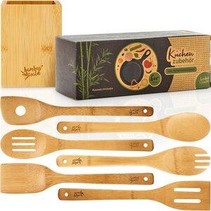 Küchenutensilien Kochutensilien Küchenhelfer - 7 Teile - Bambuswald