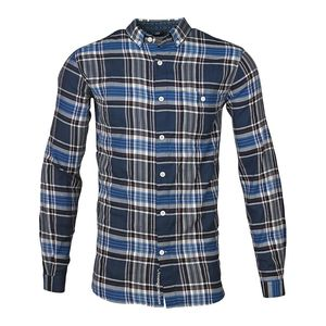 Checked Shirt Majolica Blue - KnowledgeCotton Apparel