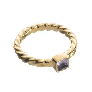 Ring Aulia vergoldet - Edge of Ember