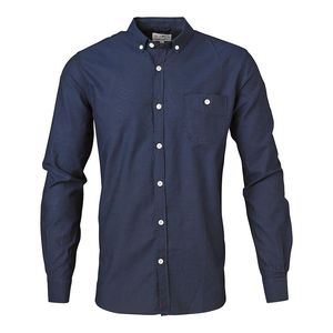 Button Down Oxford Shirt dunkelblau - KnowledgeCotton Apparel