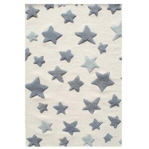 Schurwoll Teppich Happy Rugs Seastar + gratis Anti-Rutschunterlage - Livone