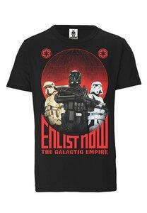LOGOSHIRT - Star Wars - Dart Vader - Enlist Now - Organic T-Shirt  - LOGOSH!RT