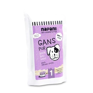 Bio-Dosenfutter f. Hunde, Gans pur - napani