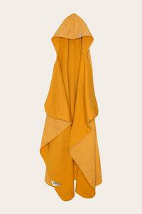 Bio Baby Kapuzenbadetuch gelb mit Punkten - Kim - Lana naturalwear