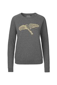 Bio Damen-Sweatshirt Sperber - Peaces.bio - handbedruckte Biokleidung
