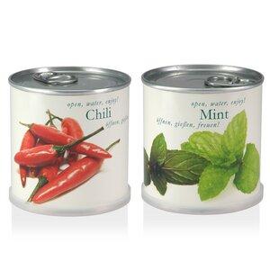 Blumen in der Dose Geschenk Set - Chili - Minze von Macflowers - MacFlowers