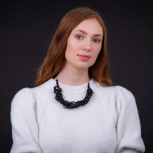 Bundle Black handgefertigte Halskette aus recyceltem Reifenschlauch - SAPU