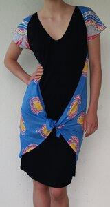 Bawa Dress schwarz/blau - Lalesso