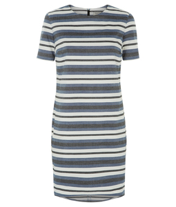 Sadie Shift Dress Blue - People Tree