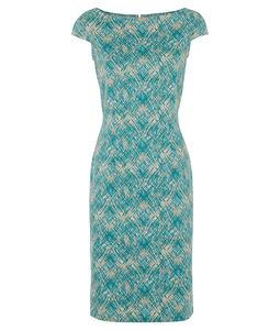 Olivia Fitted Dress Green - People Tree