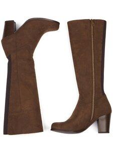 Kniehohe Stiefel aus veganem Wildleder Damen - Will's Vegan Shop