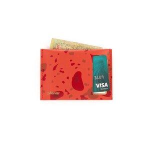 Kartenhalter aus recyceltem Leder - TASHAY