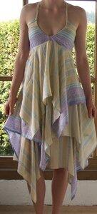 Matatu Dress beige/türkis - Lalesso