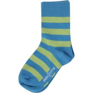 Kindersocken grün-blau geringelt - Fred's World by Green Cotton