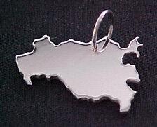 MECKLEMBURG-VORPOM. Kettenanhänger in 925 Silber - S.W.w. Schmuckwaren