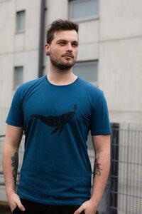 Herren T-Shirt mit Halfbird Wal aus Biobaumwolle, Made in Portugal ILP06 - sailor blue - ilovemixtapes