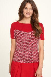 Jersey Shirt aus Bio-Baumwolle mit Print - TRANQUILLO