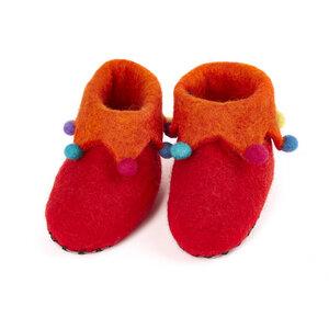 Hausschuhe Harlequin handgefilzt für Babies und Kinder - short'n'pietz