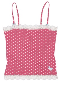 Fairly Dotty Vest Coral - Lifes not fair but my knickers are!