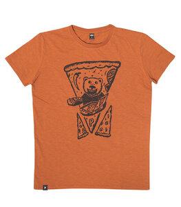 Peppo Pizza Bär - päfjes Männer T-Shirt - Fair gehandelt aus Baumwolle (Bio) Slub - Orange - päfjes